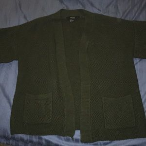 Army Green Knit Kimono